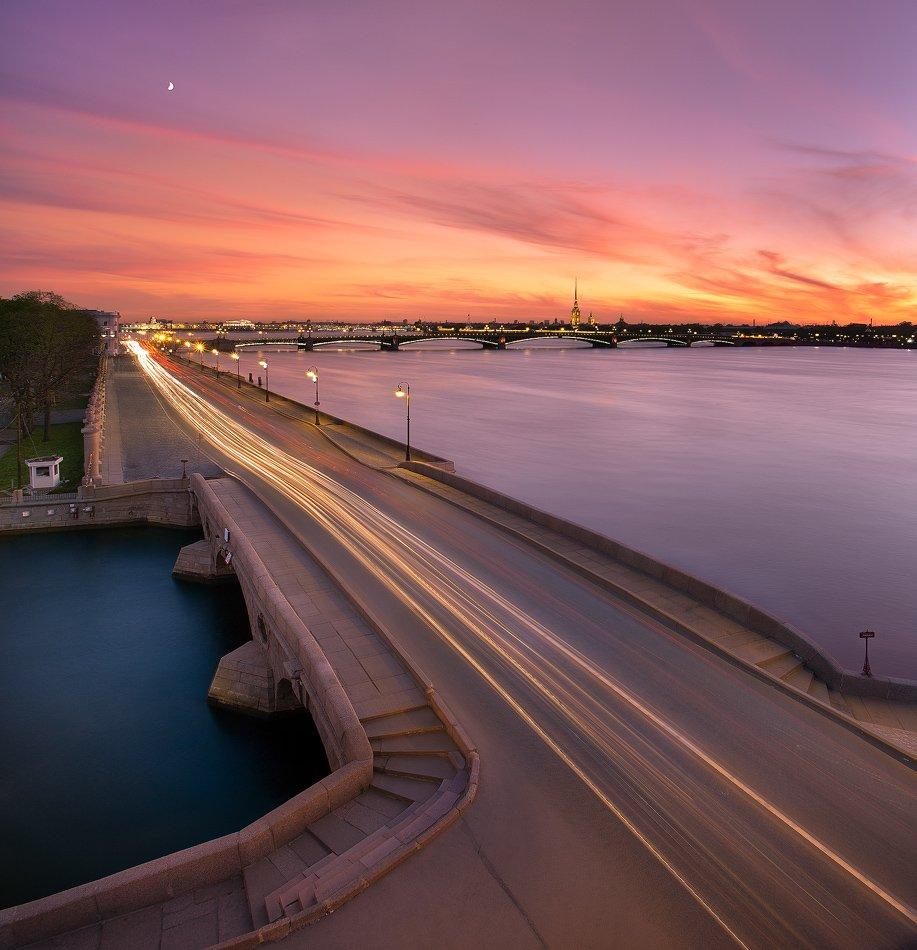 санкт-петербург, прачечный, мост, вечер, закат, петропавловка, троицкий, мост, летний, сад, Sergey Louks