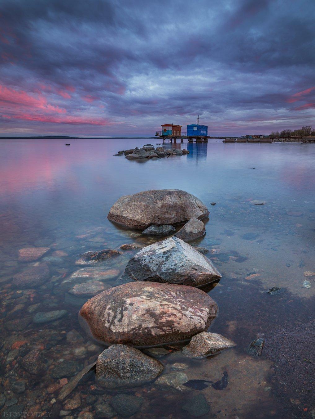пейзаж,рассвет,закат,озеро,кольский,север,вода,отражение,весна, Истомин Виталий