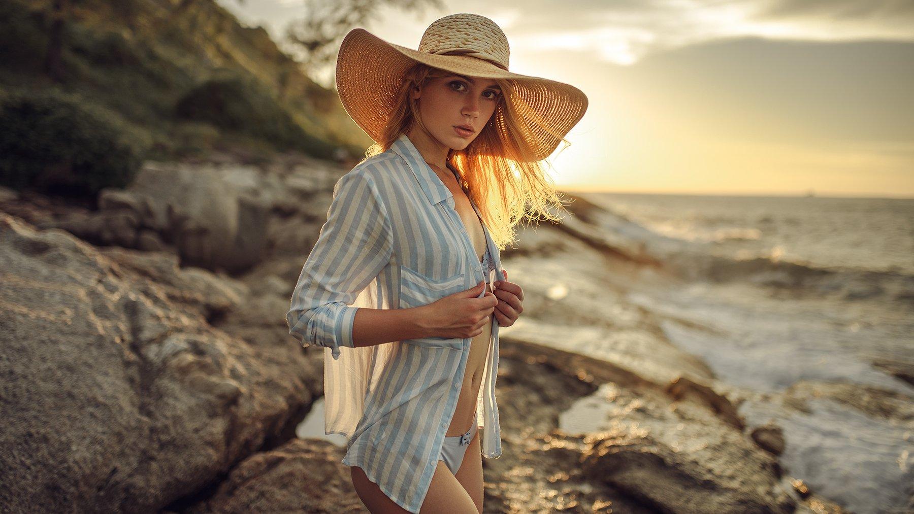 sexy, портрет, закат, Лямин Юрий