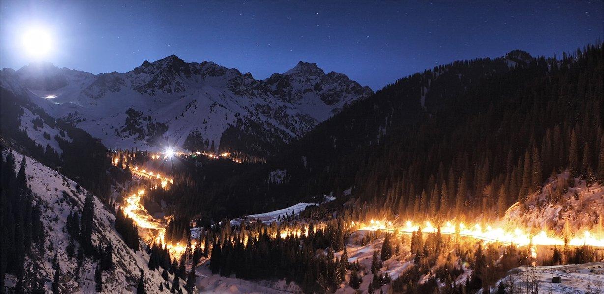 ночь,горы,дорога, SkorovS