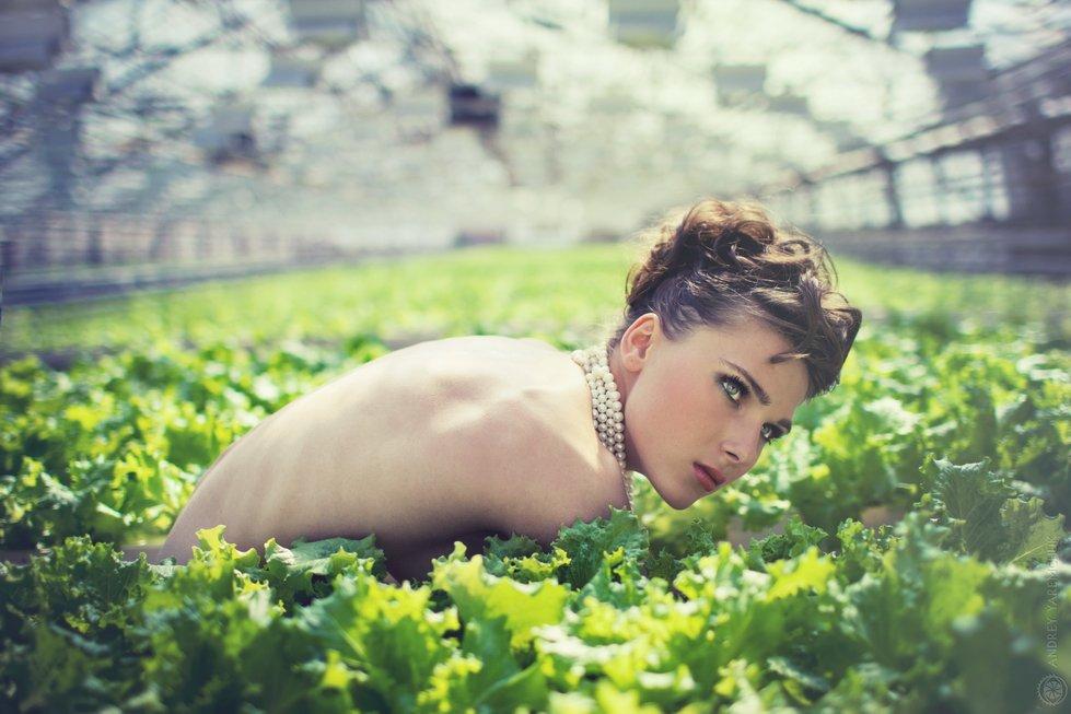 салат, девушка, растения, экология, голая, зелень, ферма, Andrey Yaremchuk