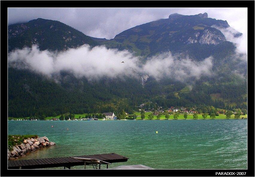 австрия,тироль, ахензее,другой берег,птичка,озеро,туман,paradox, PARADOX