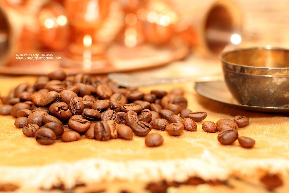 кофе, чашка, зёрна кофе, на столе, kUPa  Стеценко Игорь