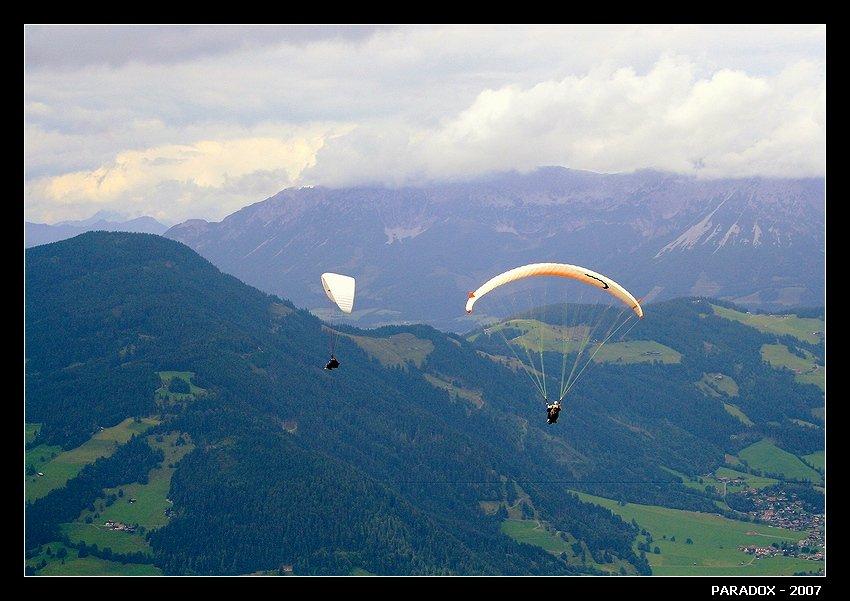 австрия, альпы,тироль,параплан,полет нормальный,paradox, PARADOX