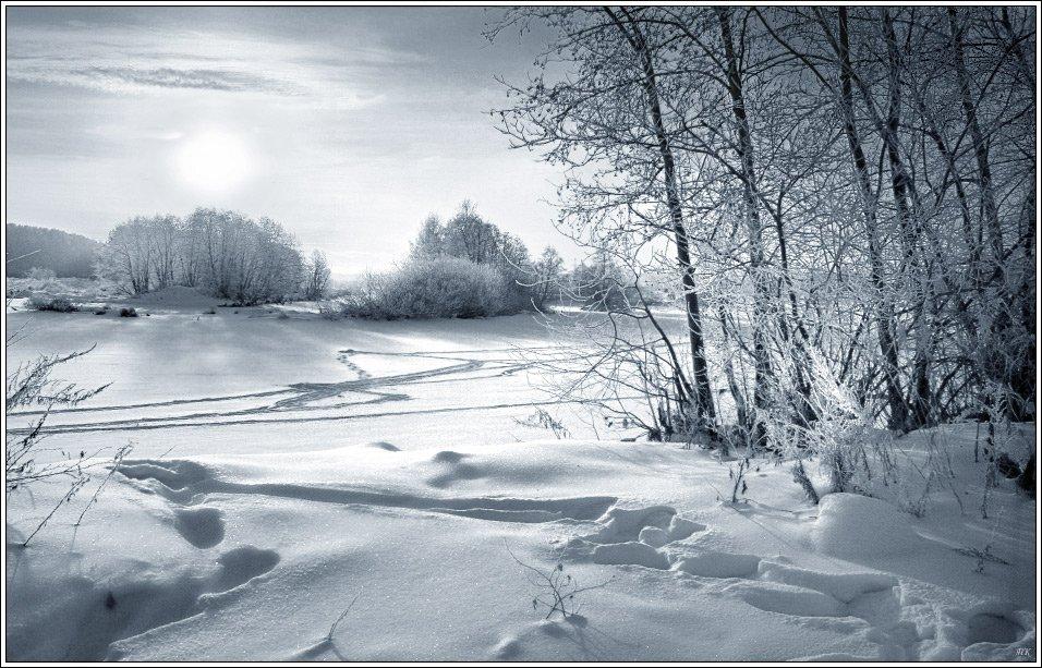 мороз, утро, река, Павлов Кирилл