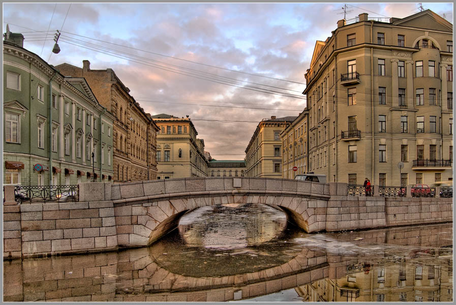 город, канал, отражение, мост,, domovoi