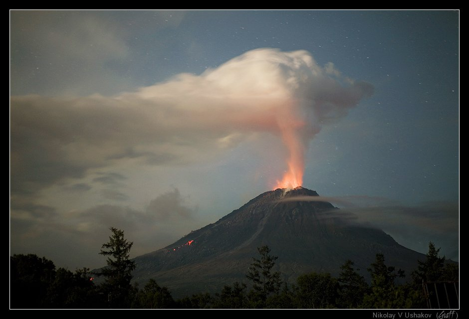 вулкан кизимен, камчатка, извержение, Николай Ушаков (Graff)