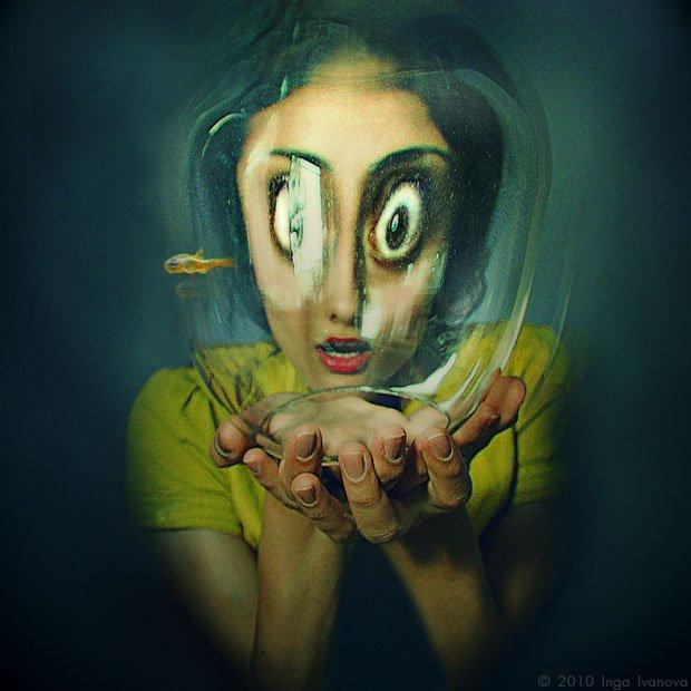 Art, Art photo, Color, Colors, Emotive, Eyes, Face, fish, Nikon, Inga Ivanova