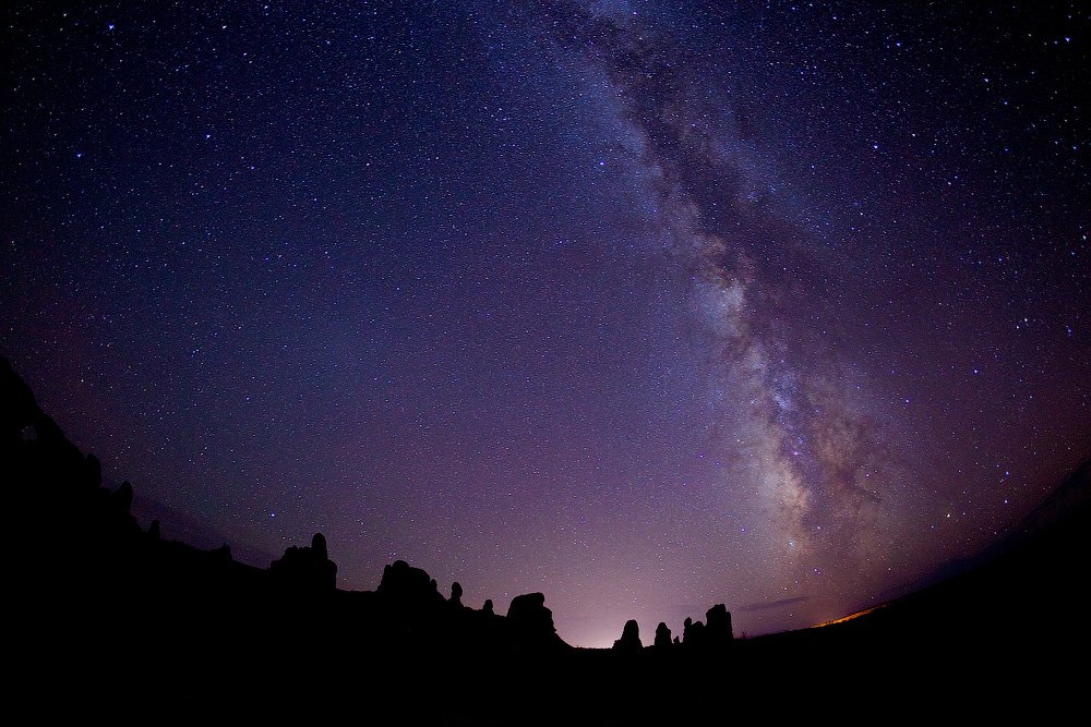 usa, arches, sky, stars, night, Евгений Васенёв