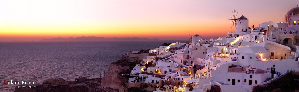 greece, santorini, ia, sunset, Parkhin Roman