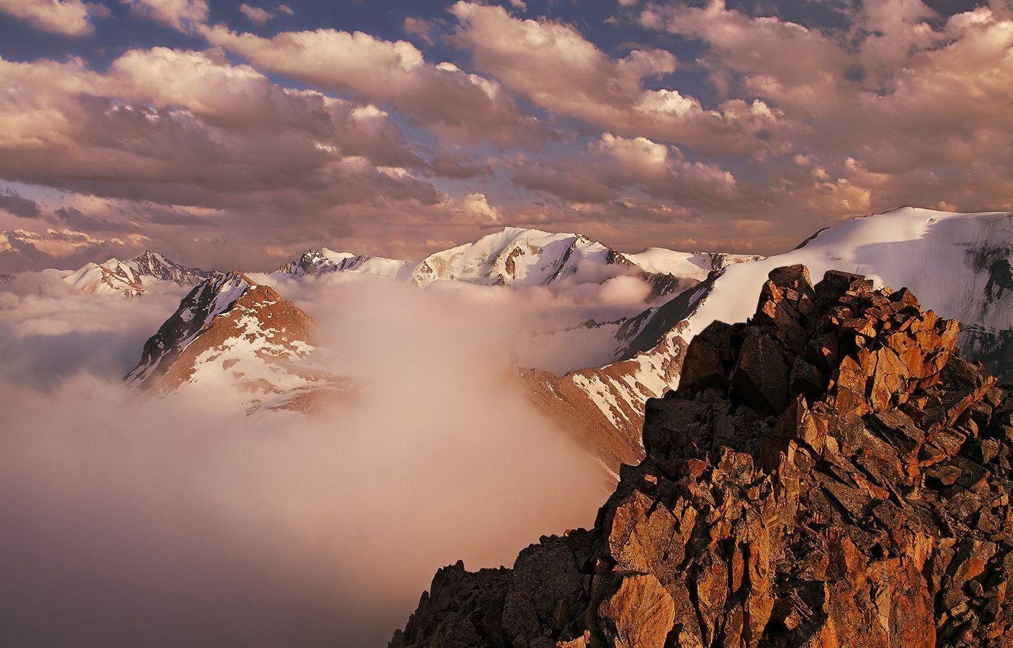 горы, вечер, закат, заилийский алатау, Ne Horoshiy