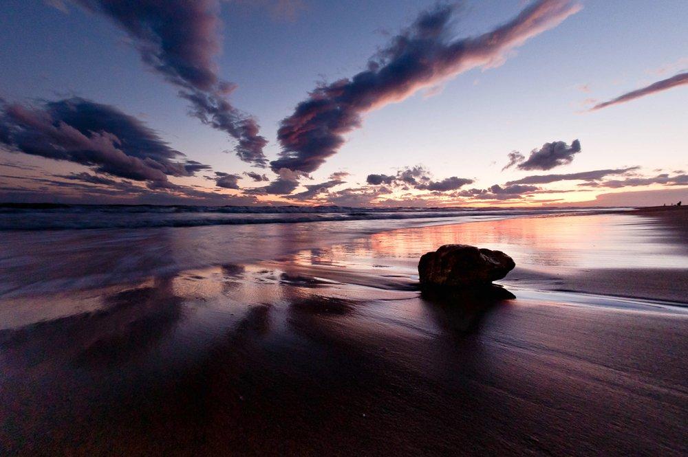 море, вечер, закат, пейзаж, den-sau-pin