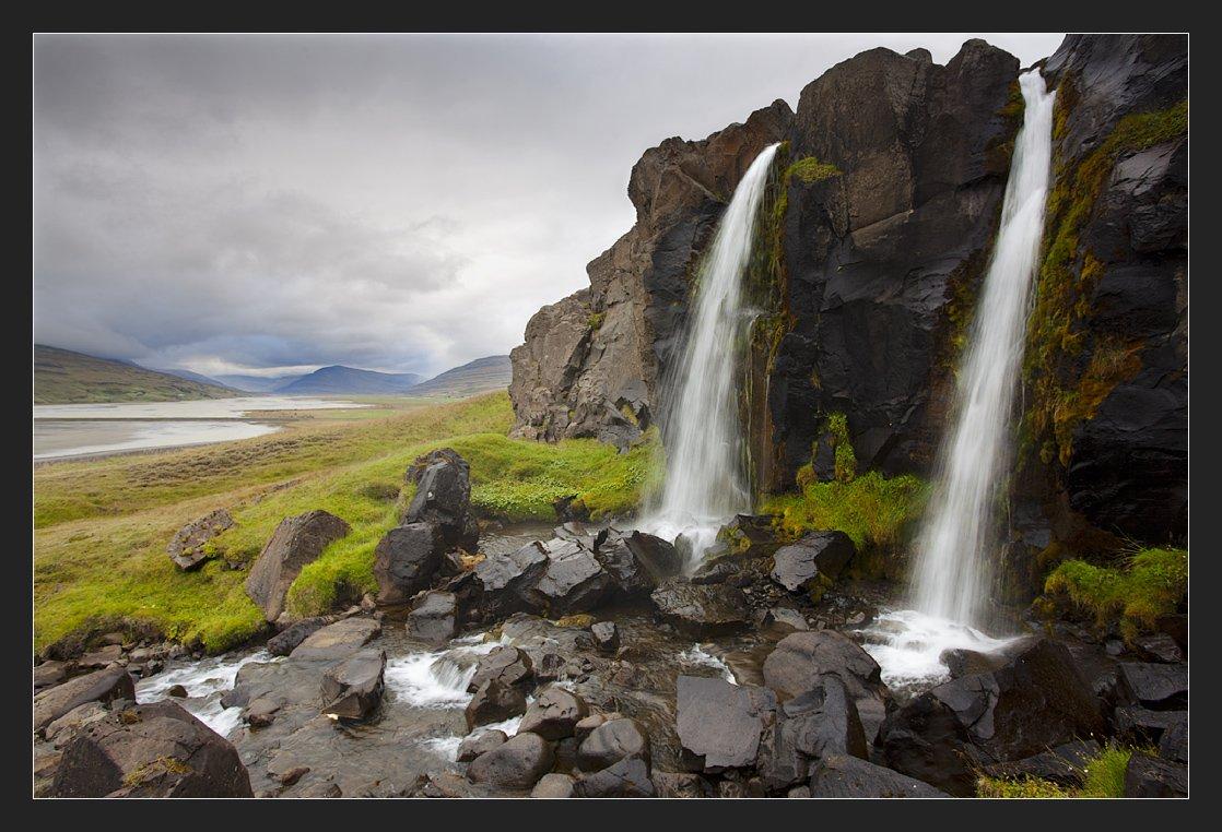 iceland, waterfall, Алексей Гуржиев