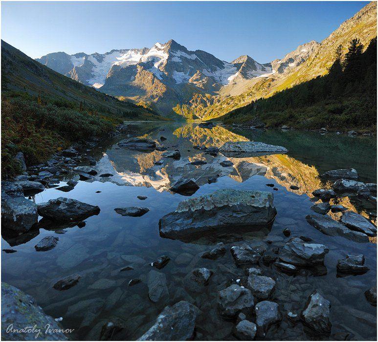 горный алтай, озеро мультинское поперечное, катуньский хребет, Иванов Анатолий