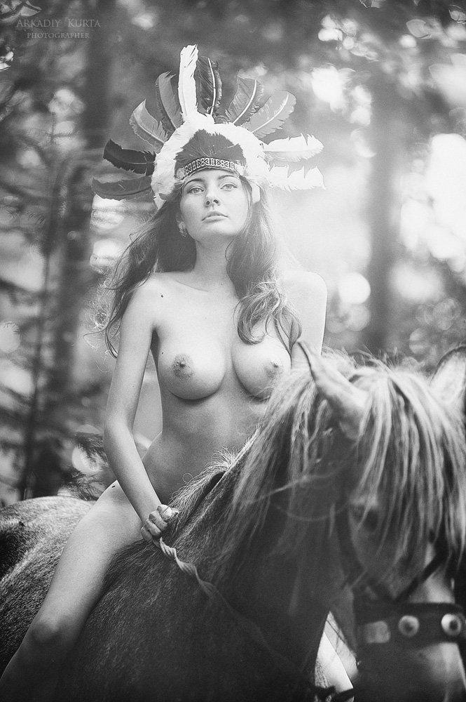 лес,утро,лучи солнца,эротика,ню,чб, Аркадий Курта