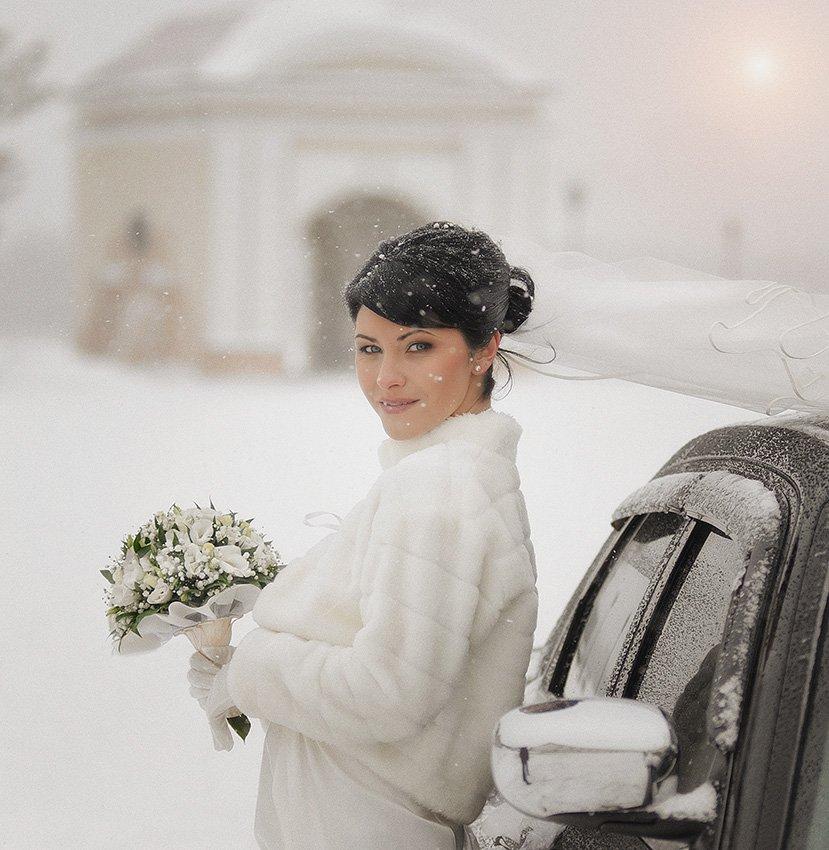 невеста,свадьба,зима,снег,портрет, Ravilin