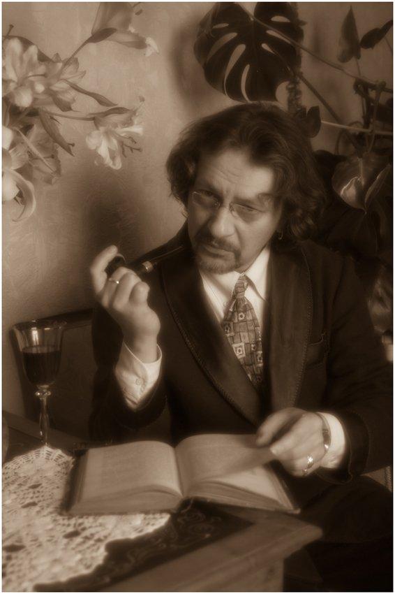чтение, генриха, гейне, портрет, художник, антон, жанович, Александр Абалихин