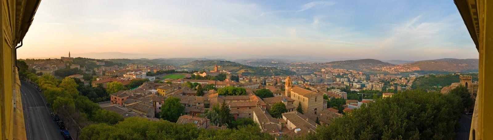 панорама, италия, перуджия, Михаил Кристев