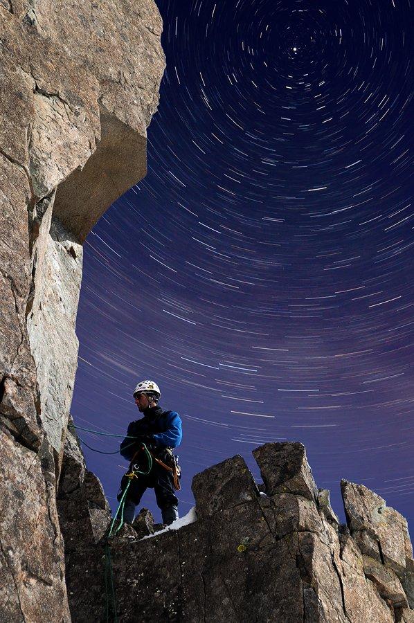 горы, снег, скалы, камни, небо, ночь, звёзды, астро, альпинизм, альпинист, 2011, россия, Pete.J.Dunham
