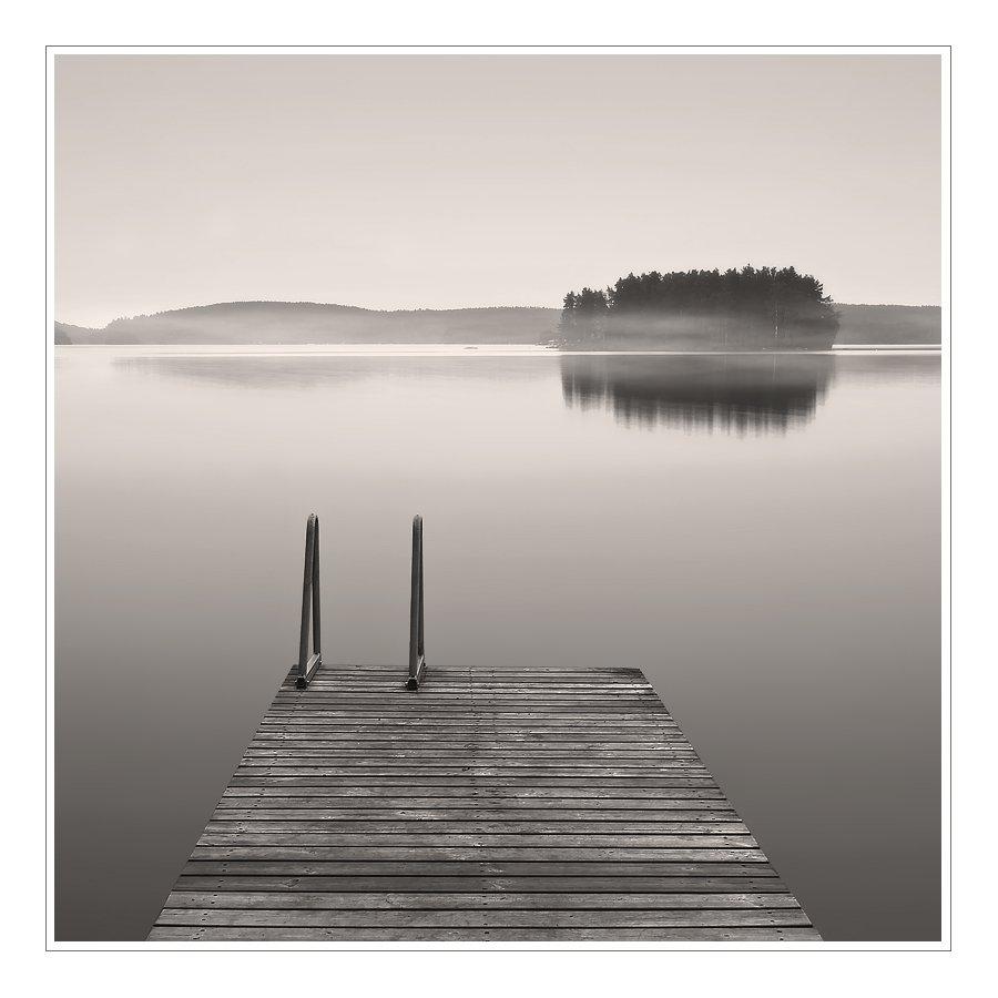 пейзаж, озеро, финляндия, утро, Oleg Dmitriev