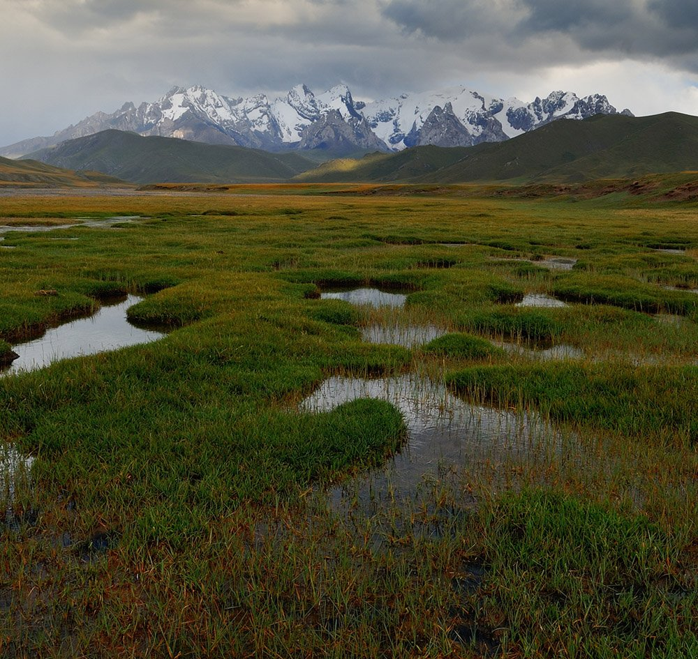 киргизия, плато, горы, кок-кия, Vasiliy Ganzha