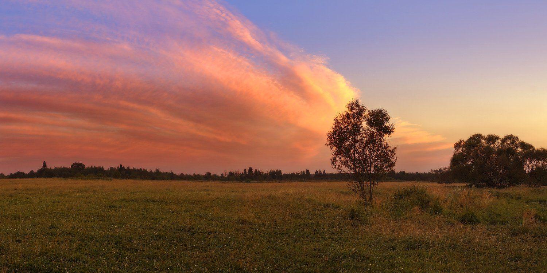 пейзаж, вечер, Oleg Dmitriev