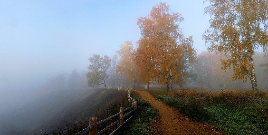 плёс, плес, осень, туман, соборная гора, Вавилов Митя