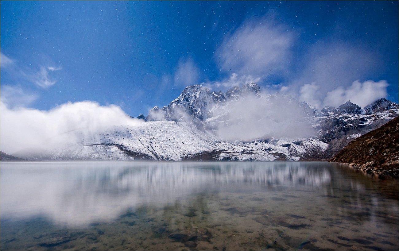 горы,озеро,ночь,полнолуние,гималаи, trinitrotoluol