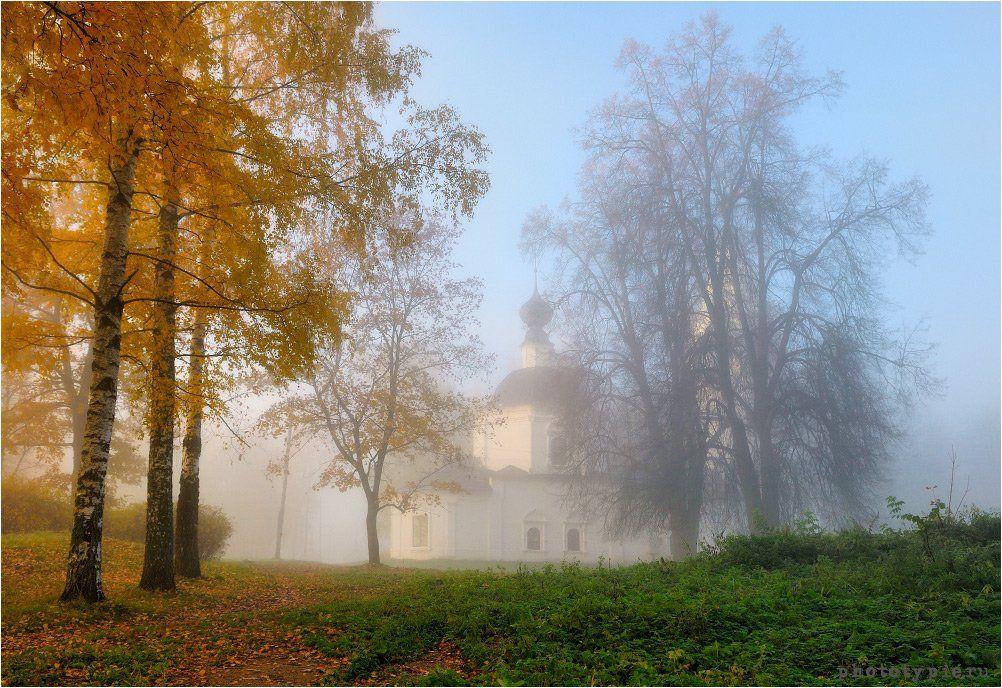 плес, плёс, туман, утро, осень, успенский собор, соборная гора, Вавилов Митя