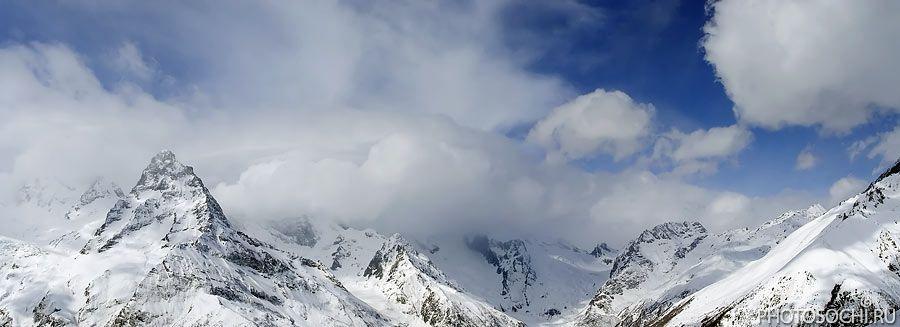 горы, зима, снег, домбай, Евгений Харланов