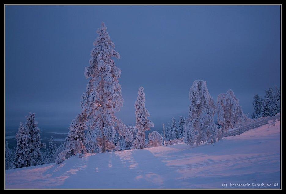 финляндия, finland, лапландия, lapland, lappi, снег, snow, леви, levi, levitunturi, сопка, зима, Константин Корешков