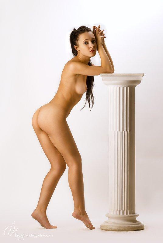 gold,marble,ню,девушка,колонна,античность,мрамор,золото,свет,тень, Александр Путев