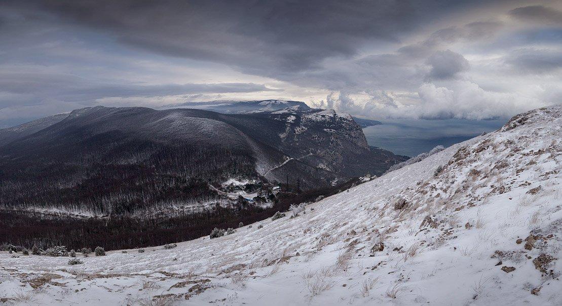 снег, крым, горы, зима, Алексей Пучков