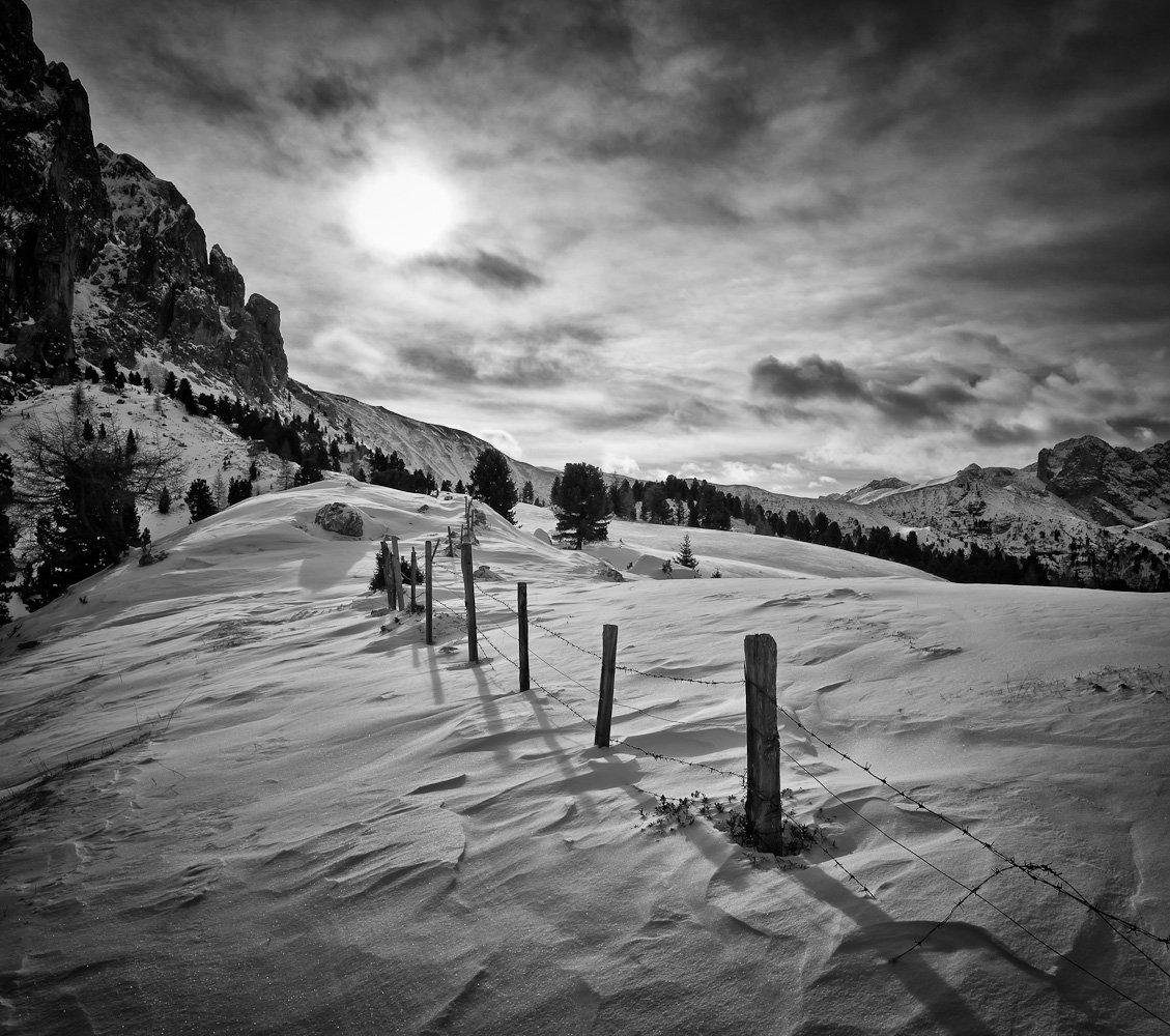 снег, горы, солнце, тучи, Михаил Кристев