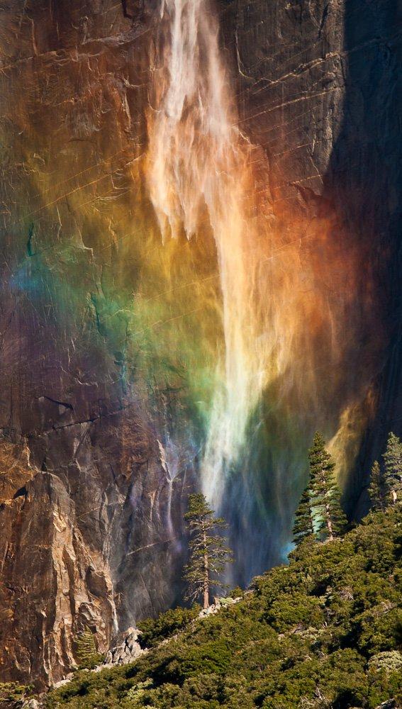водопад, утро, радуга, Михаил Кристев