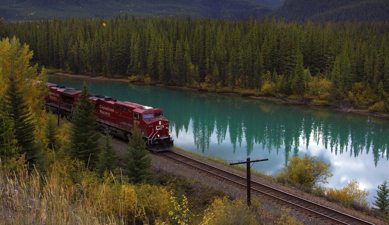 канада, скалистые горы, река, елки, ели, canadian pacific, отражения, Екатерина Богданова