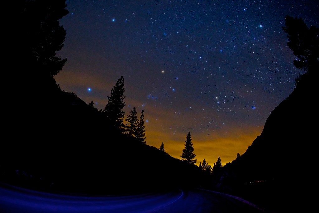 usa, road, night, yosemite, stars, Евгений Васенёв