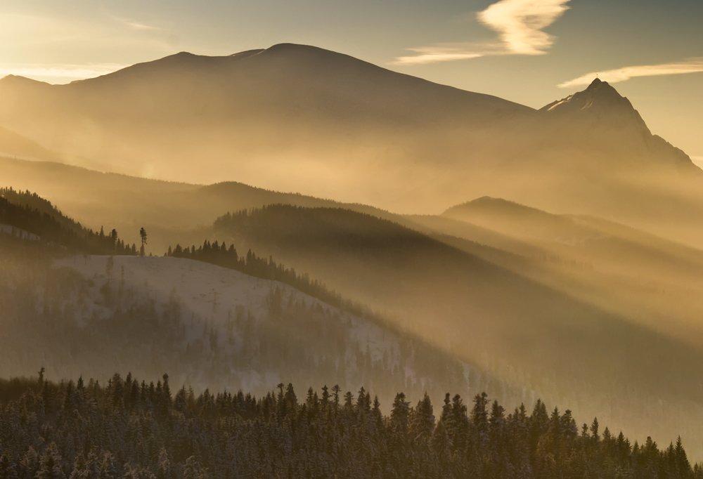 landscape,poland,winter,mountains,forest, Marcin Kesek