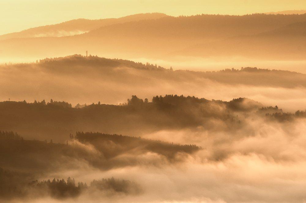 landscape, slovakia, marcinkesek, sunrise, light, fog, Marcin Kesek