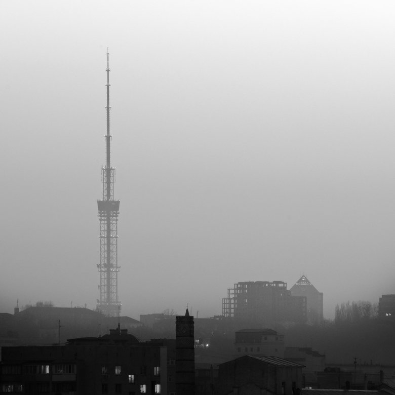 киев,телевышка,город, Михаил Мочалов