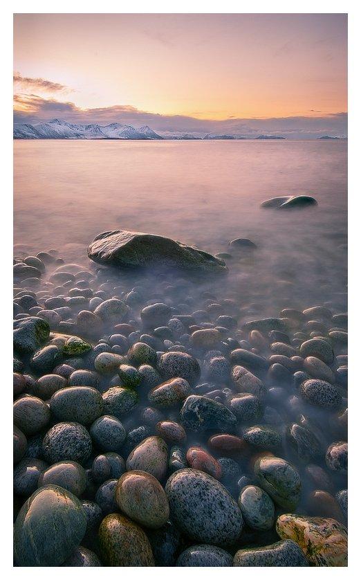 камни, сумерки, вечер, берег,, Oleg Kuchorenko