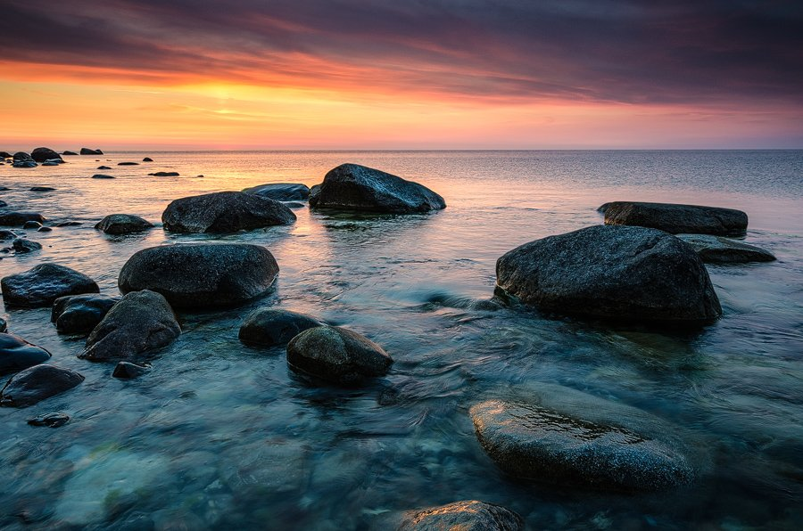 балтика, море, утро, камни, германия, Дмитрий Бойко