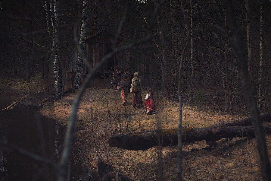сказа, лес, репортаж,персонаж, избушка, река, берег, чаща, dyadyavasya, Дмитрий dyadyavasya  Шамин