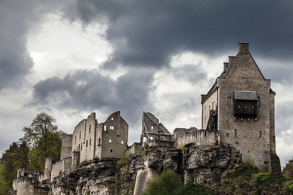 larochette, castle, luxembourg, Иван Любенов