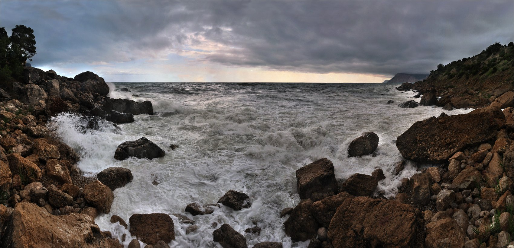 море, крым, шторм, инжир, ай-я, Kolebidenko Vladimir