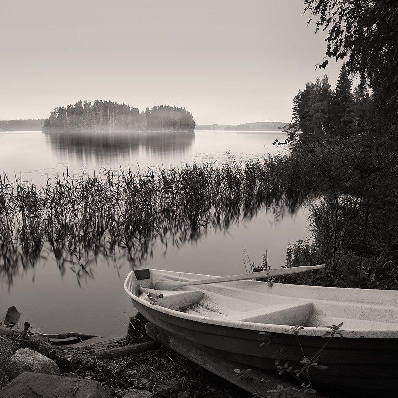 финляндия, пейзаж, утро, озеро, Oleg Dmitriev