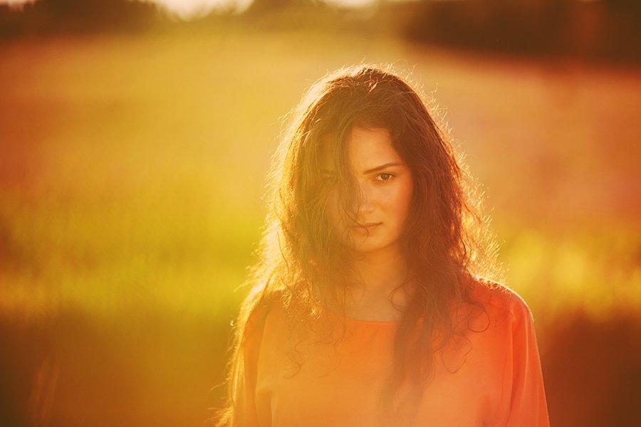 портрет,девушка,поле,лето, Мария