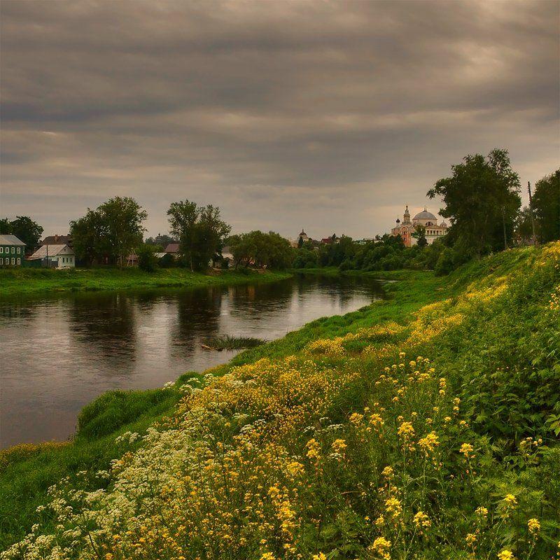 старина, торжок, пейзаж, река, Oleg Dmitriev
