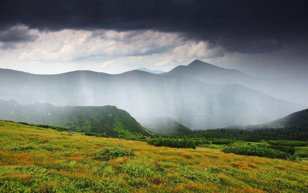 карпаты, горы, , украина, черногора, говерла, дождь, гроза, Leonid Tit