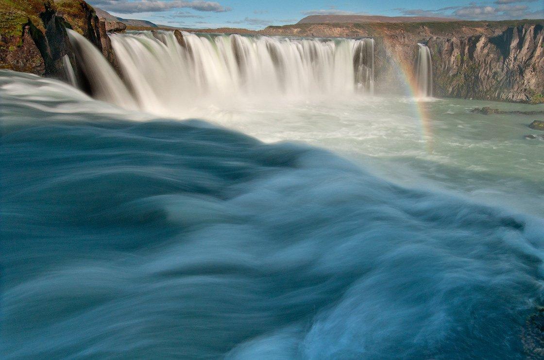 iceland,waterfall,godafoss, Максим *